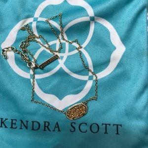 Kendra Scott Elisa Gold Drusy Pendant Necklace
